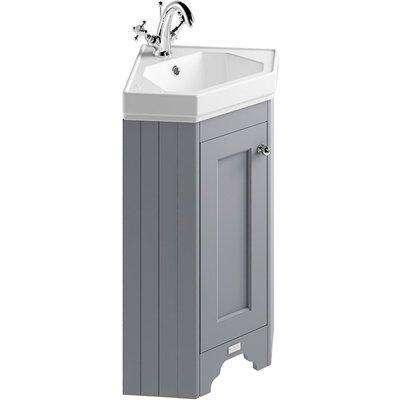 Bayswater Plummett Grey Fitzroy Corner Cabinet And Basin