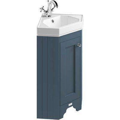 Bayswater Stiffkey Blue Fitzroy Corner Cabinet And Basin
