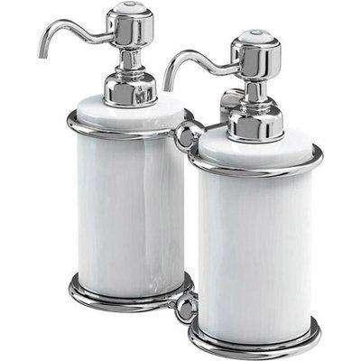 Burlington Double Liquid Soap Dispenser