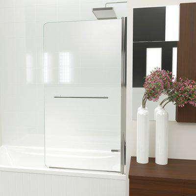 KUDOS Inspire Single Panel Bath Screen with Optional Towel Rail