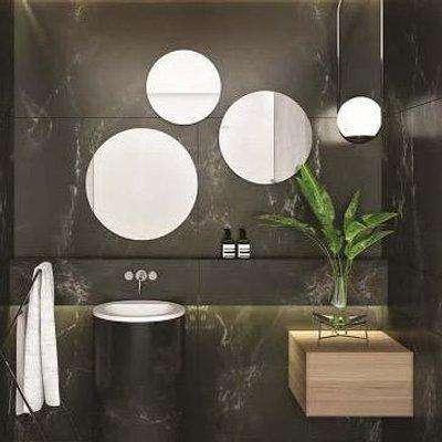 The White Space Round Mirror