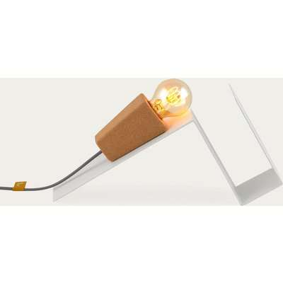 White Base and Grey Cable Glint #1 Desk Lamp