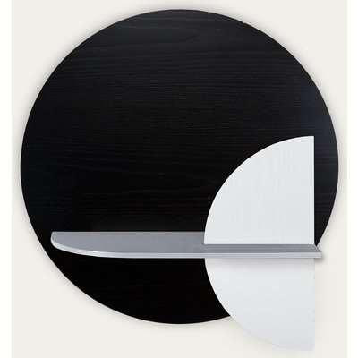 Black, Grey and  White Alba M Circle Wall Shelf