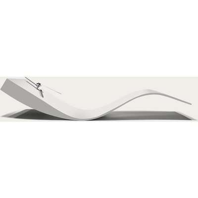 White Lacquered Finished Swing Table Clock