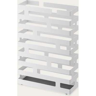 White Rectangular Brick Modern Umbrella Stand