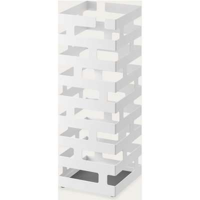 White Square Brick Modern Umbrella Stand