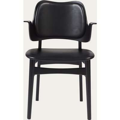 Black/Black Prescott Leather Gesture Dining Chair