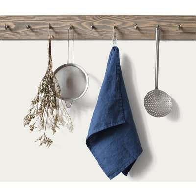 Blush Washed Washed Linen Tea Towel