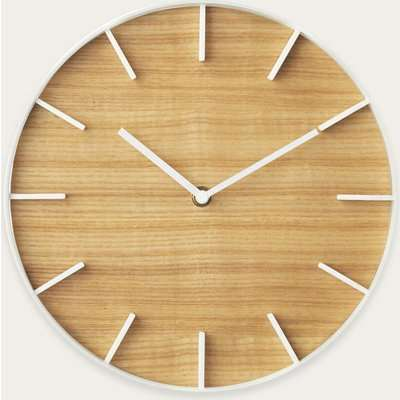 White Rin Wall Clock