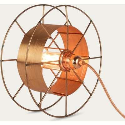 Copper Floor Lamp Spool Deluxe Copper