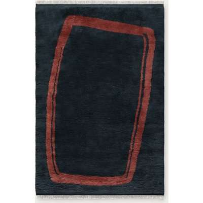 Dark Blue Simple Object 11 Rug