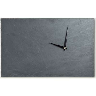 Graphite Wall Clock Stone With Black Hands ACL0040
