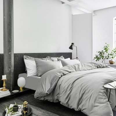 Grey The Excellence Collection Duvet Cover