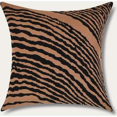 Hazelnut Wood Block Square Cushion Cover