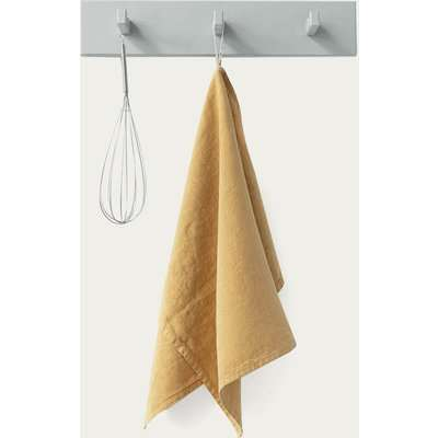 Honey Washed Linen Tea Towel