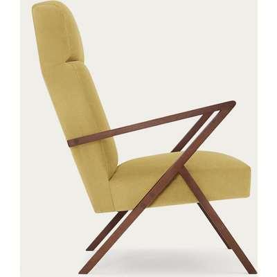 Lemon Retrostar Lounge Chair Velvet Line