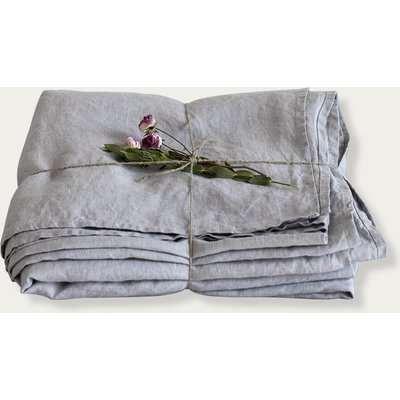 Light Grey Linen Bed Sheet