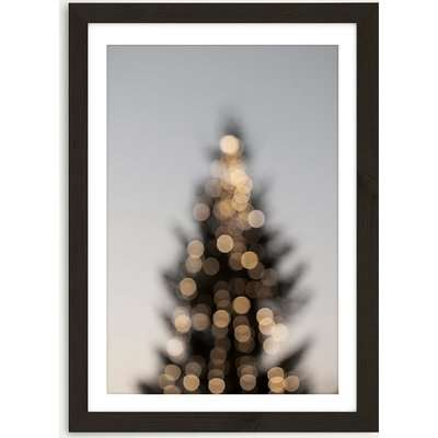 Merry Merry Christmas Art Print Black Frame