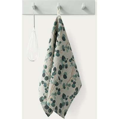 Natural Eucalyptus Washed Linen Tea Towel