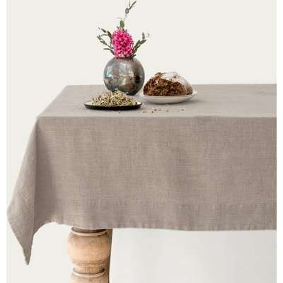 Natural Washed Linen Tablecloth