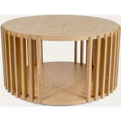 Oak Drum Coffee Table