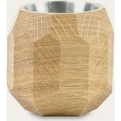 Oak Geometric Wooden Pen Holder