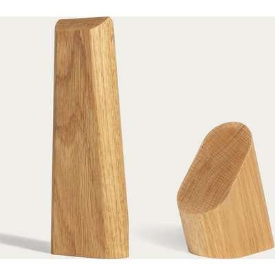 Oak Smartphone and Headphone Stand - Set of 2
