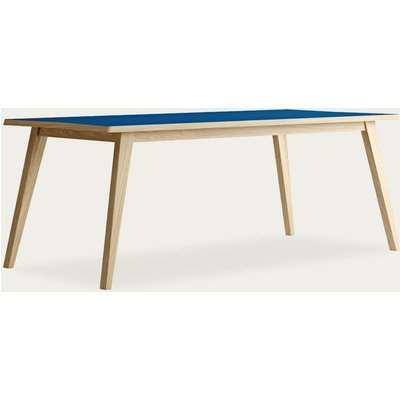 Oak/Blue Arrow Dining Table