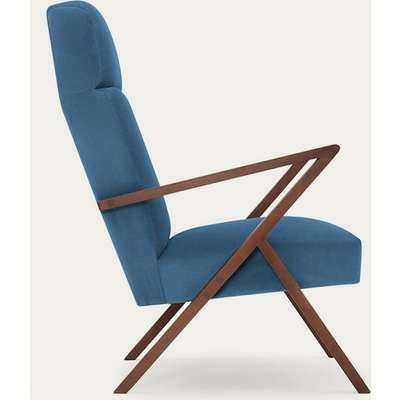 Ocean Blue Retrostar Lounge Chair Velvet Line