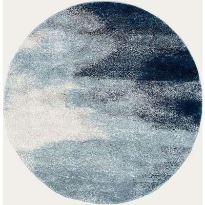 Blue Pacific Round Rug