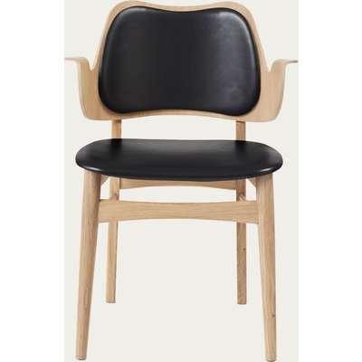 Black Prescott Leather Gesture Dining Chair