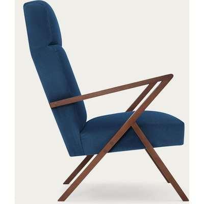 Royal Blue Retrostar Lounge Chair Velvet Line