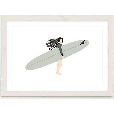 Sea Child Art Print White Frame