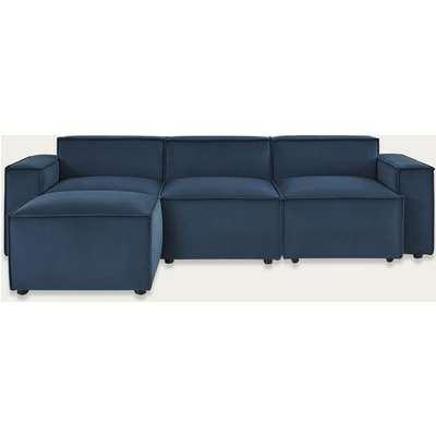 Teal Model 03 Velvet 3 Seater Left Chaise Sofa