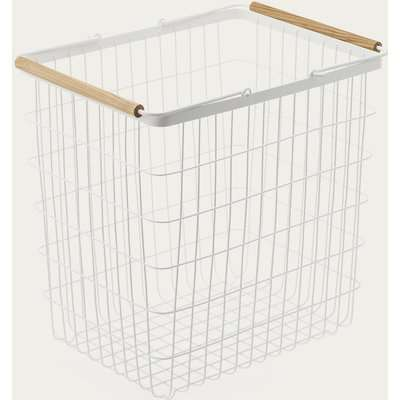White Tosca Wire Laundry Basket