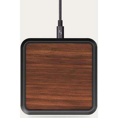 Walnut & Dark Grey Invisi-Grip Wireless Charger