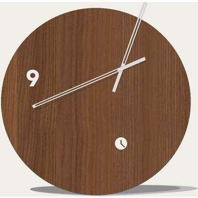 Walnut Wood Finished Slice Table Clock