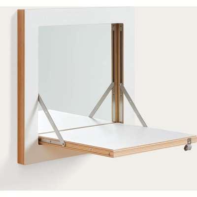 White Fläpps Vanity Mirror