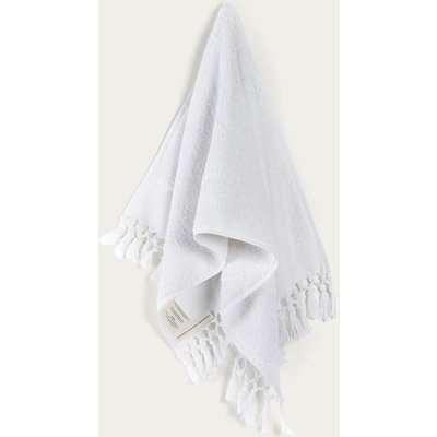 White Plush & Bare Hand Towel