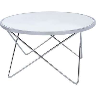 Aarhus Coffee Table - Mirror and Chrome