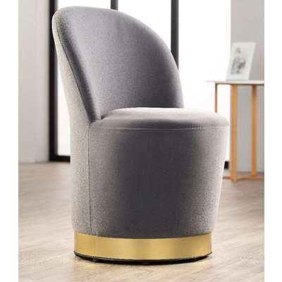Achille Navy Fabric Cocktail Chair