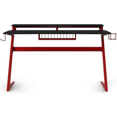 Alphason Aries Black and Red Gaming Desk - AW9210