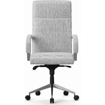 Alphason Bedford Light Grey Fabric Office Chair