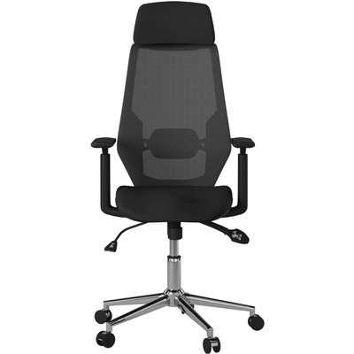Alphason Clifton Black Mesh Fabric Office Chair - AOC1299BLK