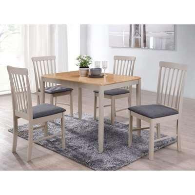 Altona Dining Table - Oak and Stone Grey Painted