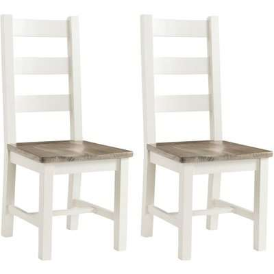 Annaghmore Santorini Painted Dining Chair - Ladder Back (Pair)