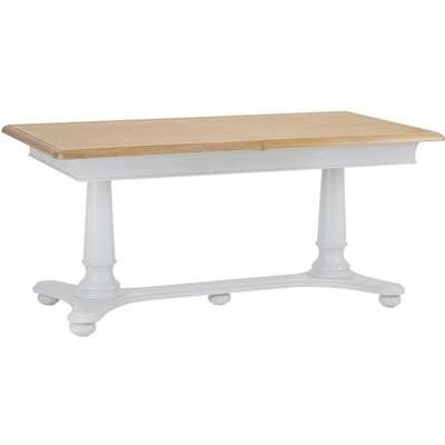 Annecy Soft Grey Painted 160cm-210cm Rectangular Extending Dining Table