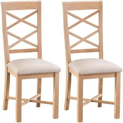Appleby Oak Double Cross Back Dining Chair (Pair)