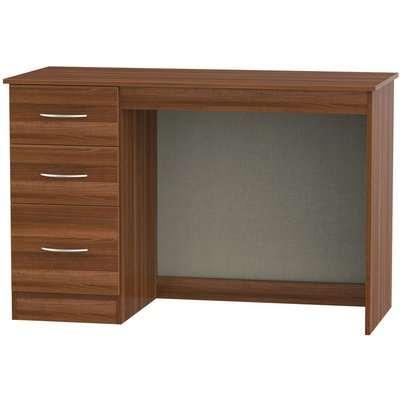 Avon Noche Walnut Desk - 3 Drawer