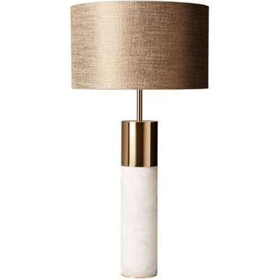 Heathfield Azaila Alabaster Table Lamp with Copper Metallic Linen Shade